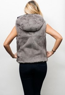 Gilet fourrure reversible Oakwood Premium Gris